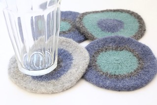 Felted Coasters - Rebecca | by smithsoccasional