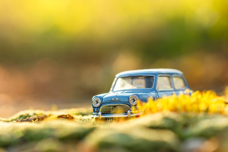 Vintage toy car macro