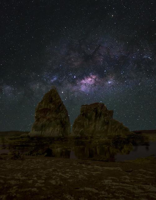 Milky way over Karang Layar