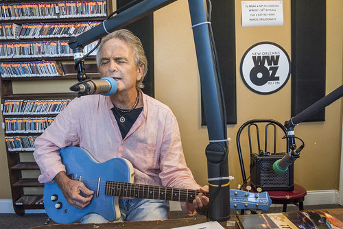 Spencer Bohren at WWOZ's 38th birthday - 12.4.18. Photo by Ryan Hodgson-Rigsbee rhrphoto.com.