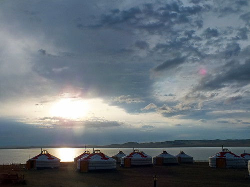 asia mongolia dragoman sky cloud storm sun sunset ger yurt overland landscape dana iwachow june july 2018
