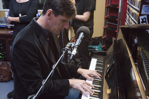 Josh Paxton at WWOZ's 38th birthday - 12.4.18. Photo by Ryan Hodgson-Rigsbee rhrphoto.com.