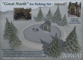 "@ Boardwalk Event | [CIRCA] - ""Great North"" Ice Fishing Set - In Natural 