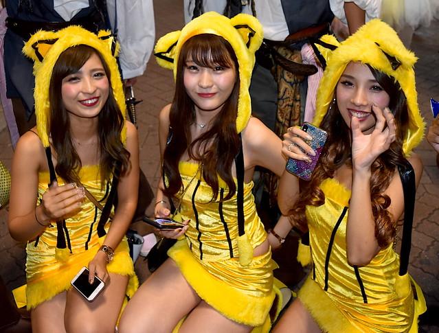 Pikachu Girls on Halloween in Tokyo