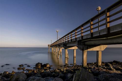 pier oysterpoint southsanfrancisco california bridge longexposure seascape bay ngc bayarea wave ocean shore seaside coast landscape outdoor clouds sky water rock sea sand beach