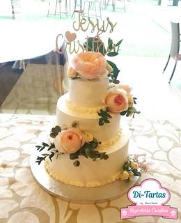 tarta boda flores naturales copia   by DiTartas