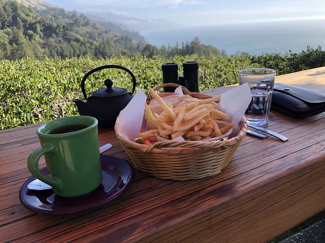 Ambrosia Burger with Fries and Tea
