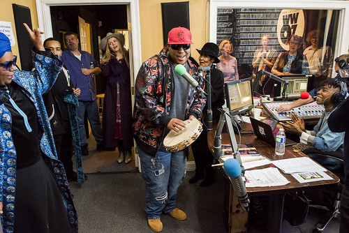 Mardi Gras Indian Collective at WWOZ 38th birthday celebration on December 5, 2018. Photo by Ryan Hodgson-Rigsbee RHRphoto.com