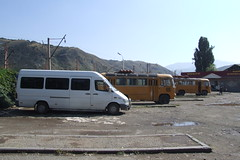 Buses at the Vanadzor bus station, 01.09.2013.