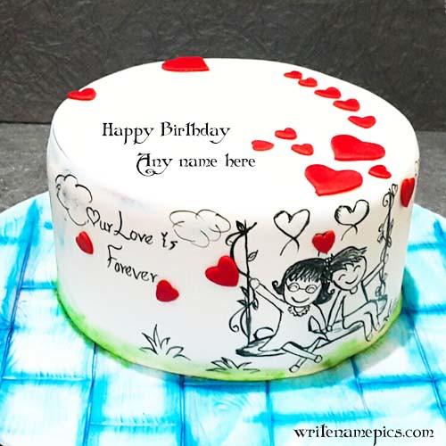 Marvelous Love Birthday Cake With Name Love Birthday Cake Images Wit Flickr Personalised Birthday Cards Akebfashionlily Jamesorg