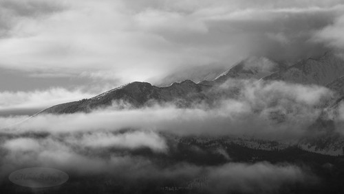mountsopris sopris mountain rockies carbondale colorado fog clouds sky outdoor nature landscape