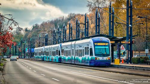 Seattle, WA: Seattle Link light rail at Rainier Beach station