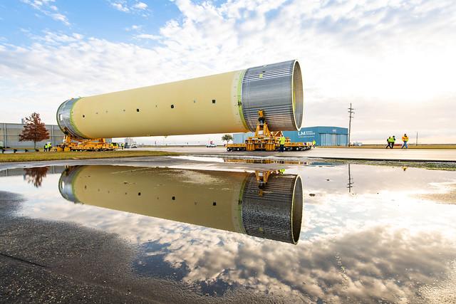 Largest Piece of SLS Rocket Test Hardware Moved for Testing