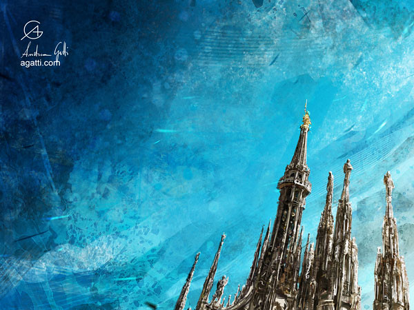Milan Cathedral Spires bright