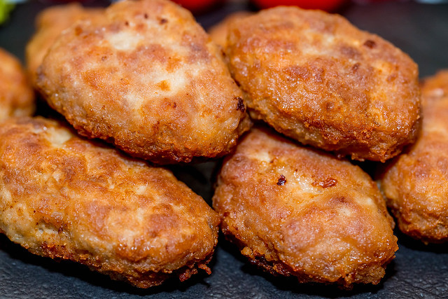 Homemade meat cutlets