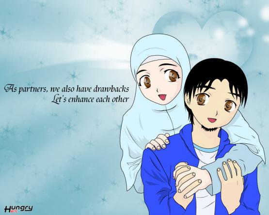 480 Gambar Kartun Muslimah Png HD Terbaik