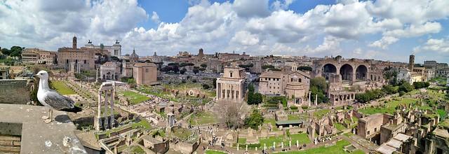 Panorama vom Forum Romanum