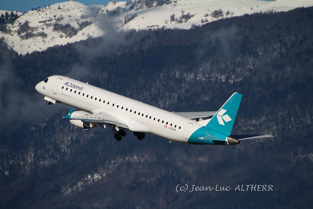 Embraer 195LR Air Dolomiti I-ADJN in new livery. GVA, March 16. 2019