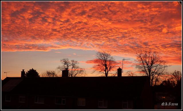 Sunrise over Ipswich (UK) (Explore)