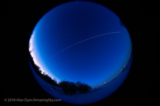 ISS Pass in the Blue Hour Twilight | by Amazing Sky Photography