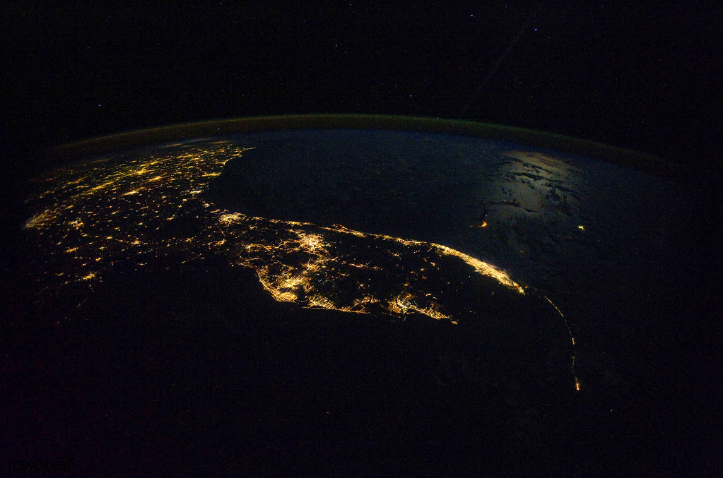 The southeast United States from the International Space S