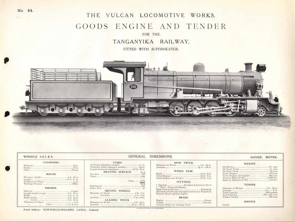 Vulcan Foundry - Steam Locomotives Catalogue | Africa Railwa