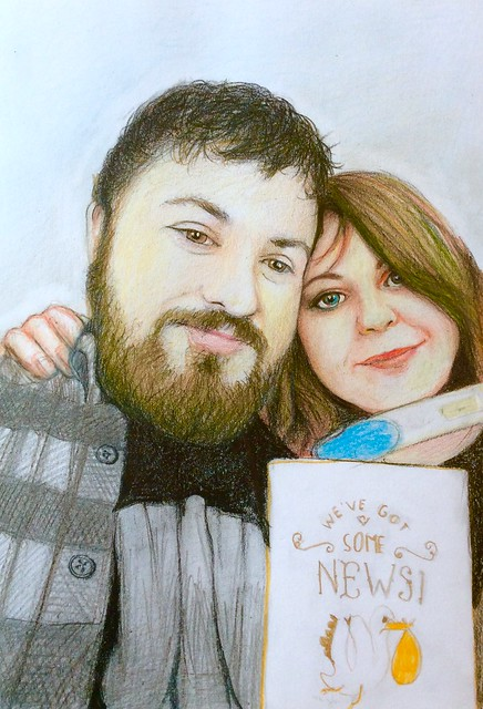 Coloured pencil drawing on white card by jmsw