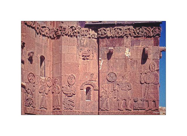 Osttürkei - Insel Achtamar - Heiligkreuzkirche - Wandreliefs 1978