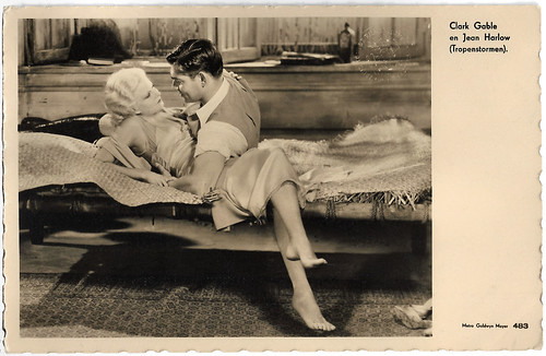 Jean Harlow and Clark Gable in Red Dust (1932)