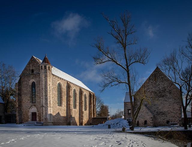 Chapelle de la commanderie par temps de neige