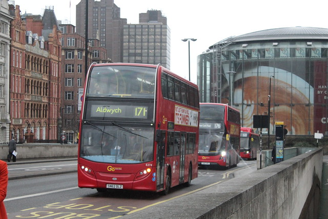 Short Working - London Central E274, SN62DLZ - Route 171 | Waterloo Bridge/ South Bank