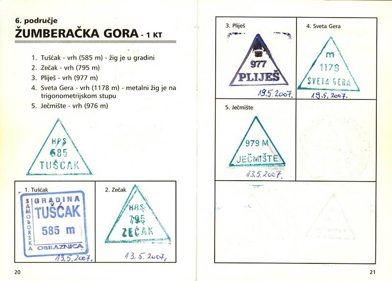 CROATIAN HIKING TRAIL LOG & PASSPORT BOOK, CROATIA, 2006