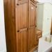 Two door waxed pine wardrobe E160