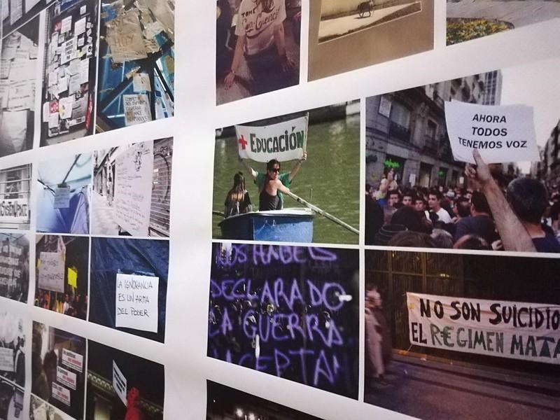 collage huelga