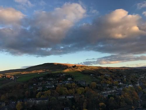 sky clouds yorkshire todmorden pennines hill sunset
