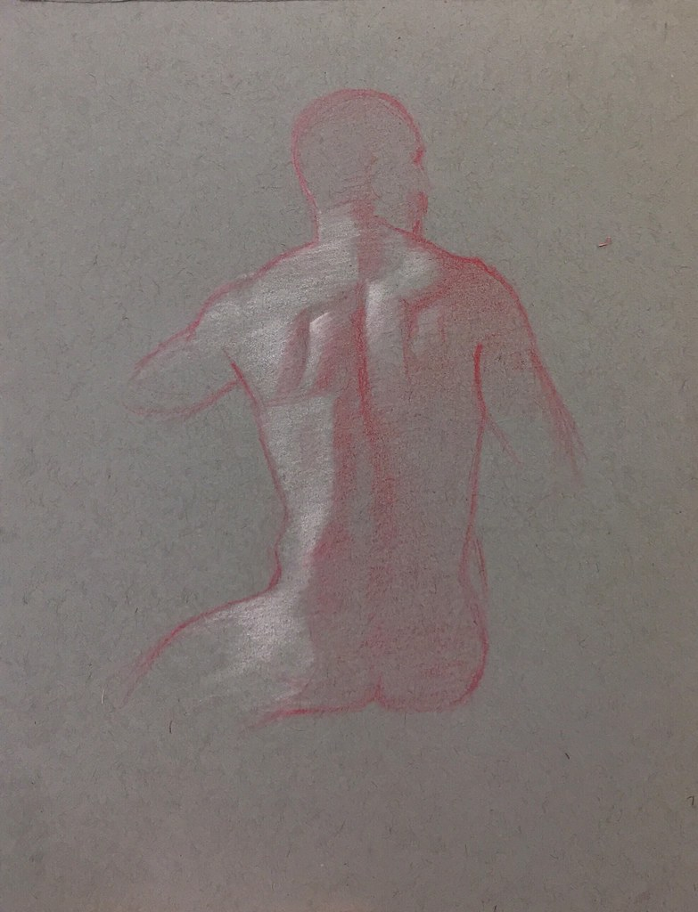 Back view of a male nude giovanni by raeburn10025