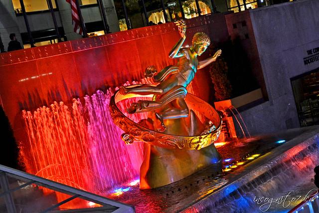 Prometheus Sculpture Statue Fountain The Rink Rockefeller Center Midtown Manhattan New York City NY P00003 DSC_4056