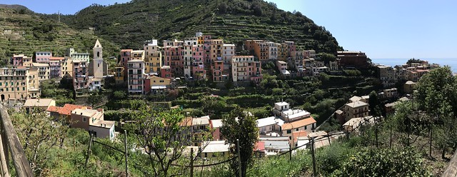 Italy - Cinque Terre - view of Manarola from the Vineyard Trail