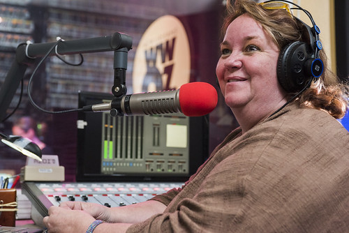 Leslie Cooper on air at WWOZ's 38th birthday - 12.4.18. Photo by Ryan Hodgson-Rigsbee rhrphoto.com