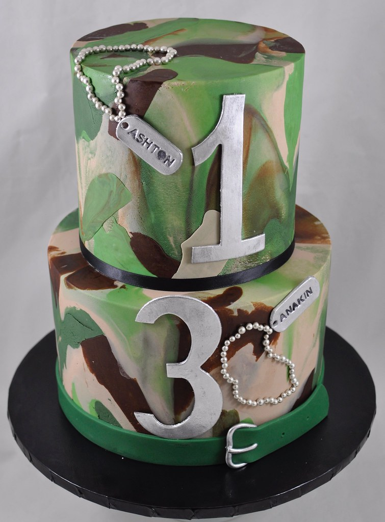Admirable Camo Birthday Cake Jenny Wenny Flickr Funny Birthday Cards Online Overcheapnameinfo