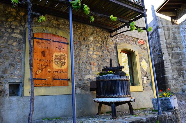 Im waadtländer Winterdorf Saint-Saphorin