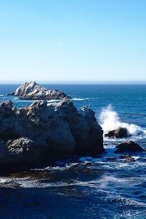 Wave on rocks, South Shore trail, Point Lobos | by aenigmatēs