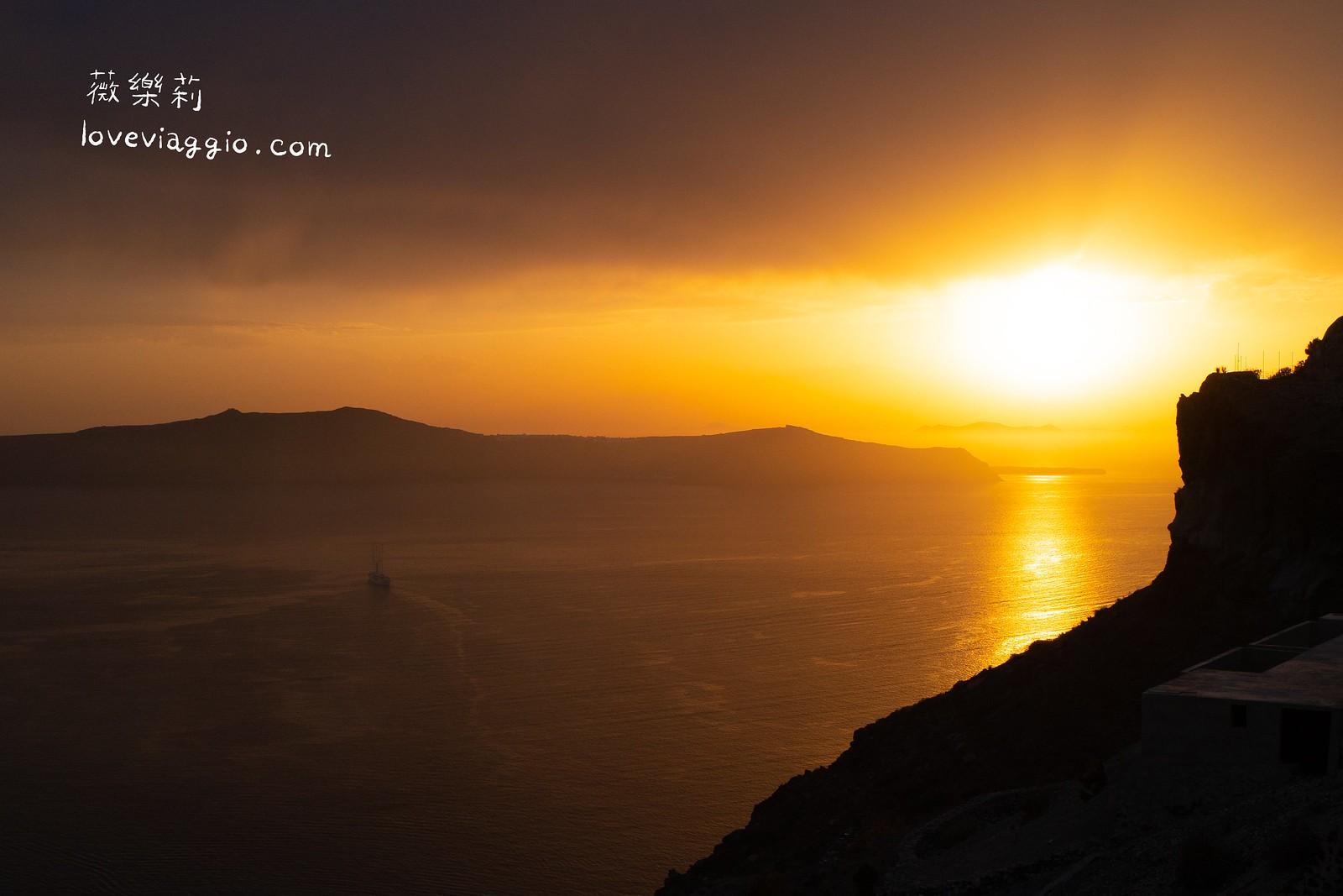 【希臘聖托里尼 Santorini】全世界最浪漫的夕陽 費拉夕陽最佳觀賞位置 @薇樂莉 Love Viaggio | 旅行.生活.攝影