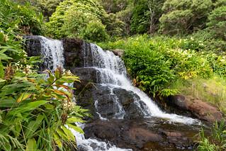 Beginnig of Waipoo Falls Waimea Canyon State Park Kauai, Hawaii   by dronepicr
