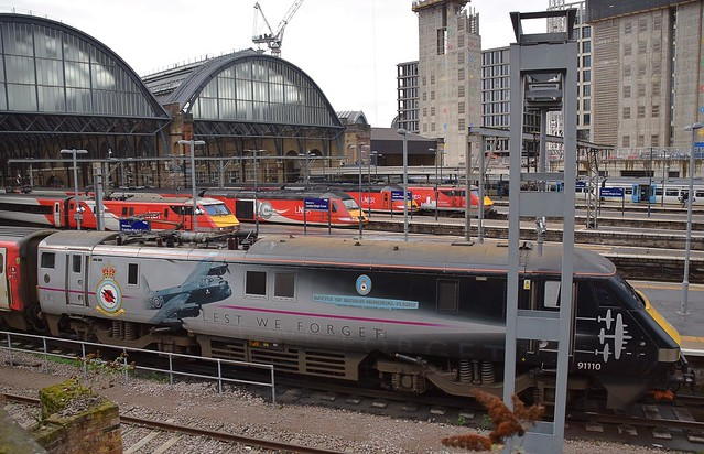 LNER Line-up at the Cross. 26 01 2019