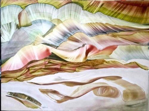 El gesto transitado. María Maynar. Temple al huevo sobre tabla1. Obra reciente 2016 - 2018 | by kalosrevistacultural