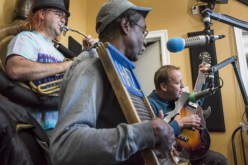 Tin Men at WWOZ's 38th birthday celebration - 12.4.18. Photo by Ryan Hodgson-Rigsbee rhrphoto.com.