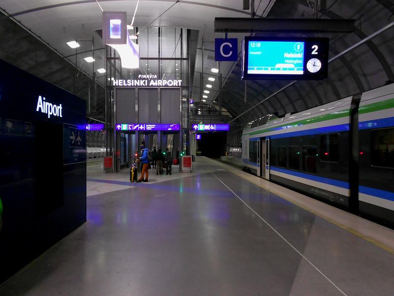 "Вантаа. Станция ""Аэропорт""."