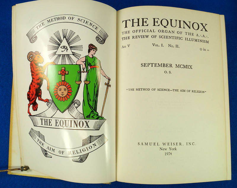 RD26573 The Equinox Review of Scientific Illuminism 1974 Vol. 1 Complete Set of 10 Books Aleister Crowley Occult Magic DSC08476