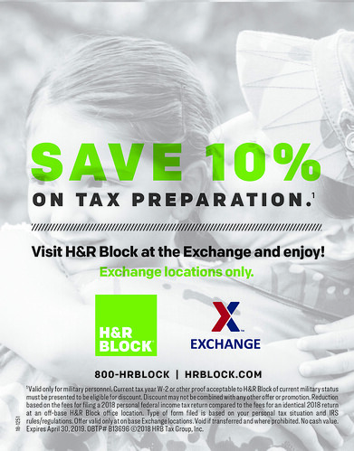 Service Members Receive 10 Percent off Tax Preparation Services with H&R Block at the Exchange | by Army & Air Force Exchange Service PAO